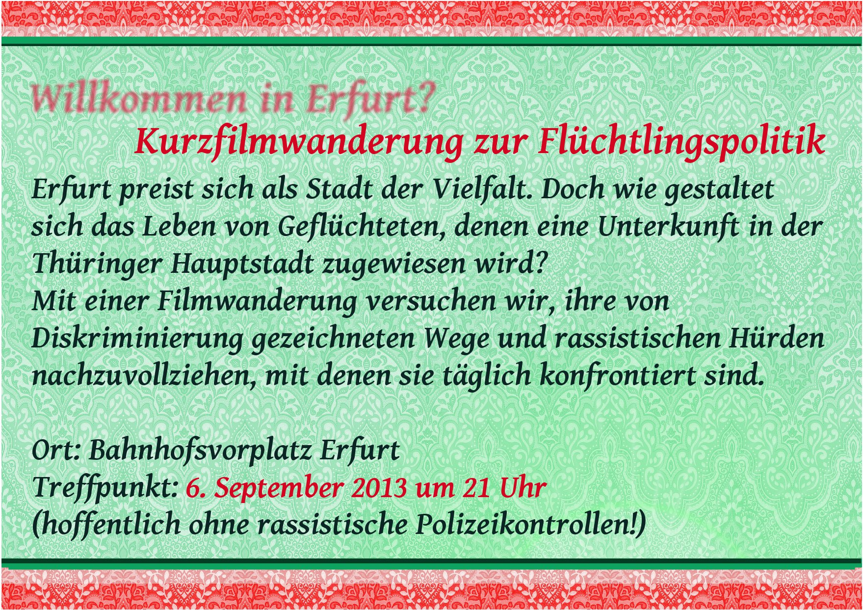 Flyer-Kurzfilmwanderung