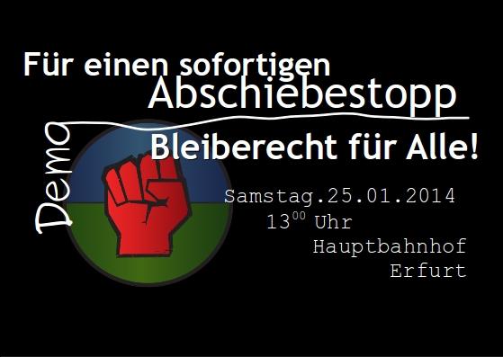 Abschiebestopp Demo